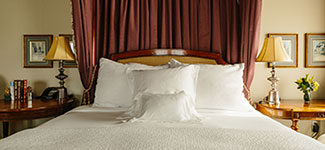 Guest Room Bed with Fine Italian Linens