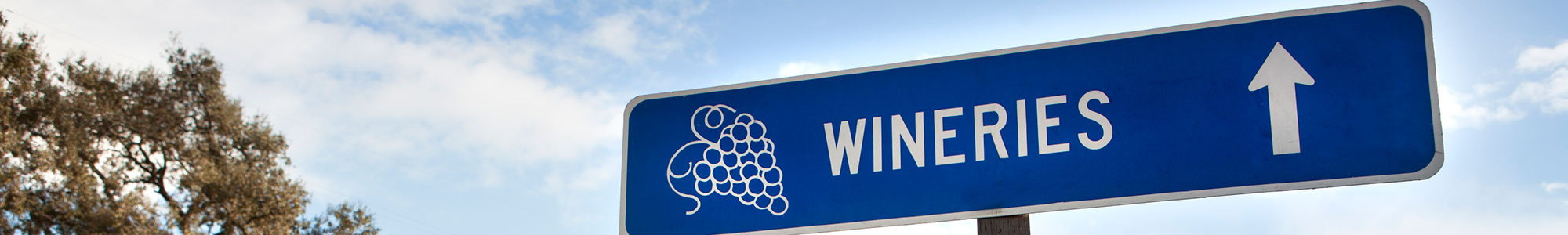 Wineries Road Sign
